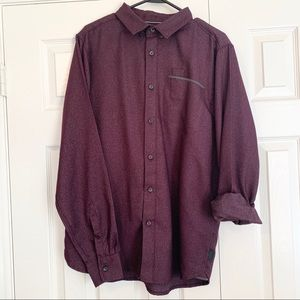 The North Face Burgundy Wine Button Up Shirt